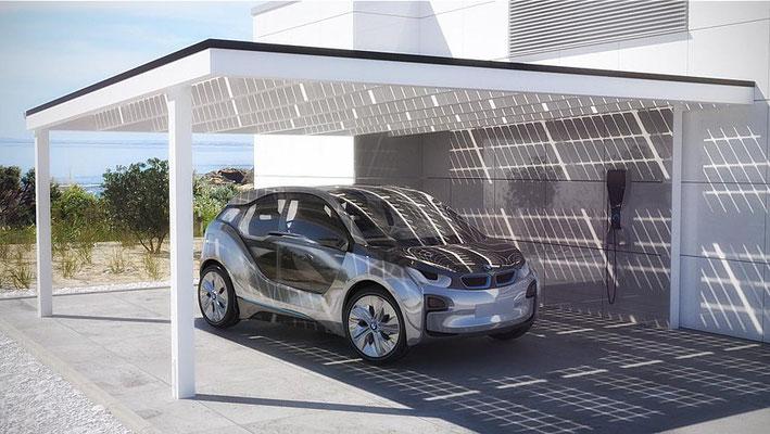 Solar Carport Grafik