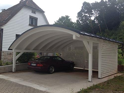 Bogendach Carport
