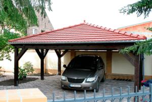Walmdach Carport