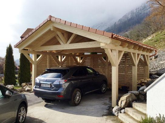 Spitzdach Carport Produkt 3