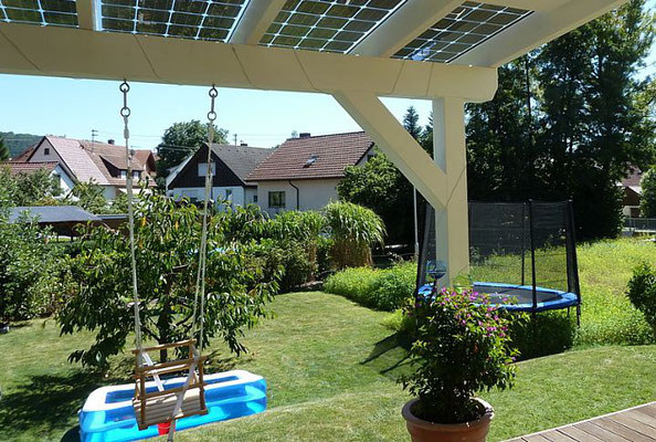 Terrasse mit Solar Schweiz